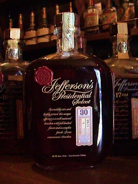 jefferson's presidential select 30 year bourbon