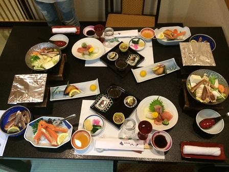 輪島八汐夕食