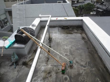 屋上防水工事初日