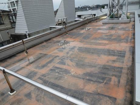 屋上防水工事剥がした後