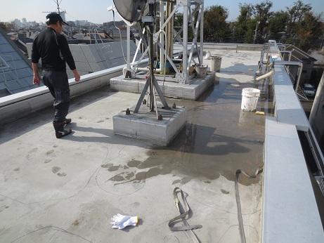 屋上防水1124水たまり4