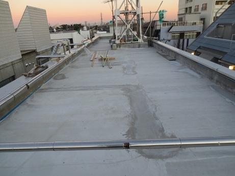 屋上防水工事完成下地