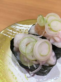回転寿司 トポス 鱈の白子軍艦