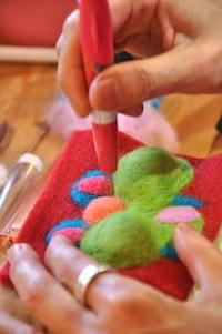 羊毛猫ブローチWS20157