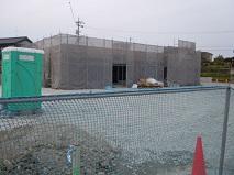 建設中のコンビニ