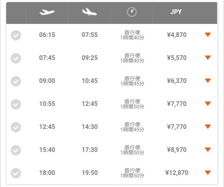 LCCで北海道スノートリップ、成田早朝便。