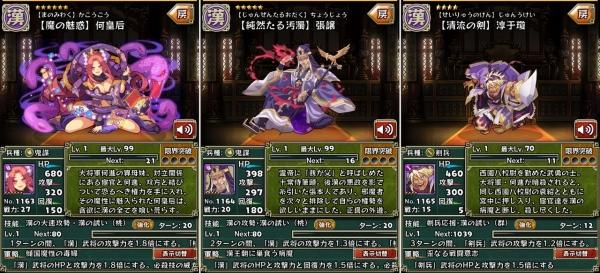 [チャレンジ勅命] 漢王朝の趨勢 獲得武将
