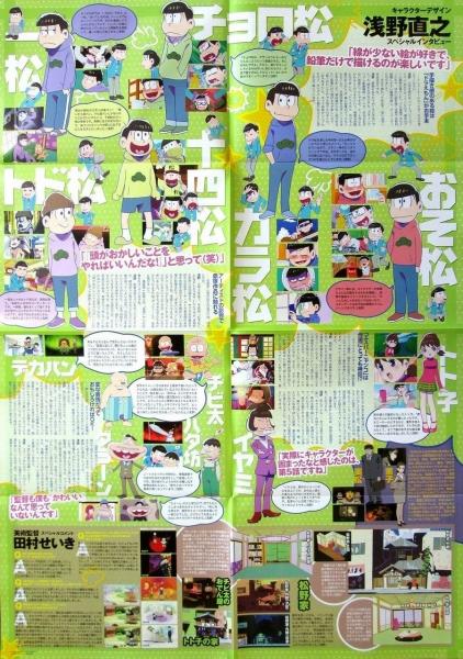月刊ニュータイプ 3月号 「B2おそ松さんポスター&特・裏」