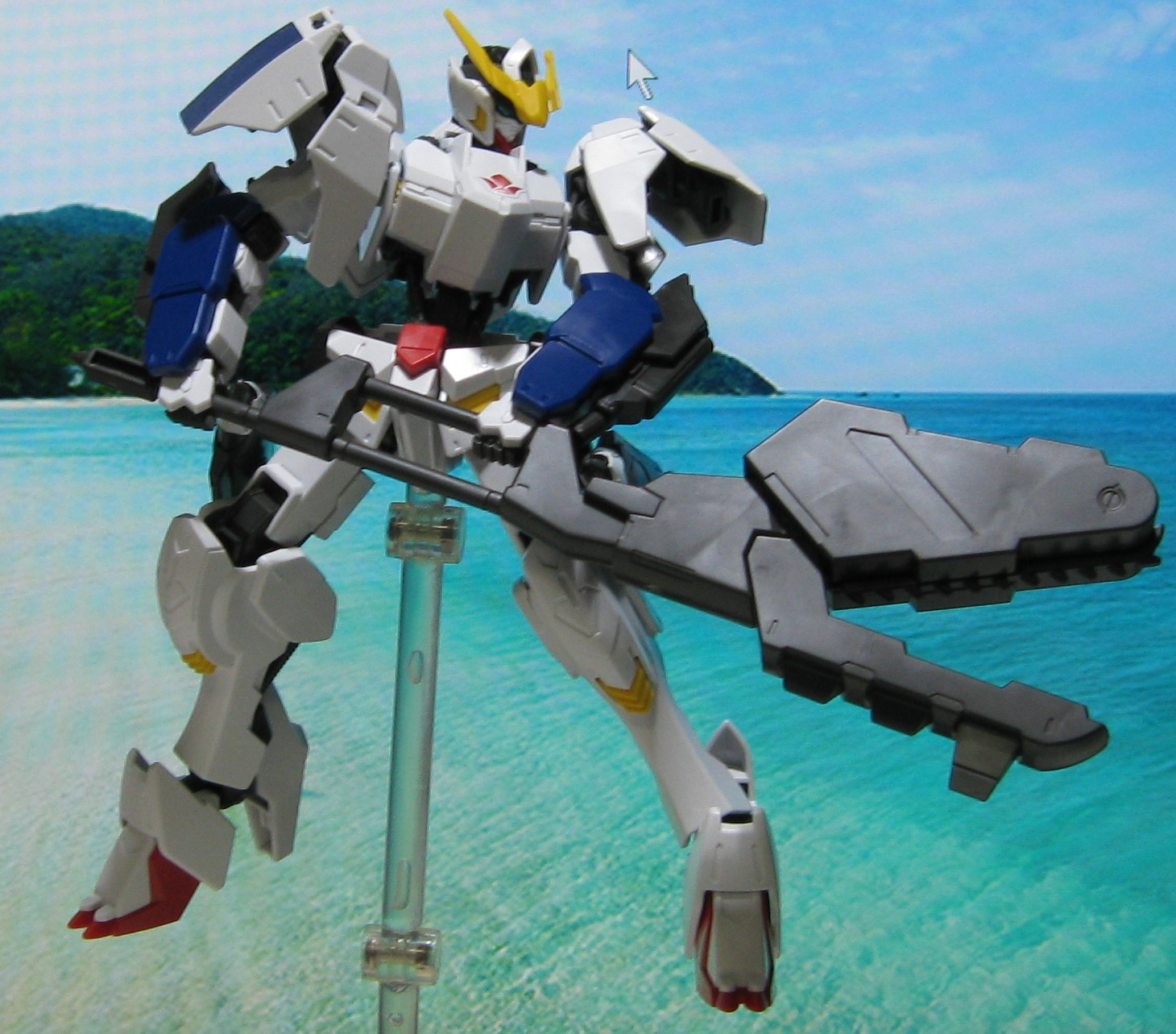 HGバルバトス デジラマ 全塗装 第6形態 ガンプラHG Barbados diorama Dejirama all painting sixth form Gundam