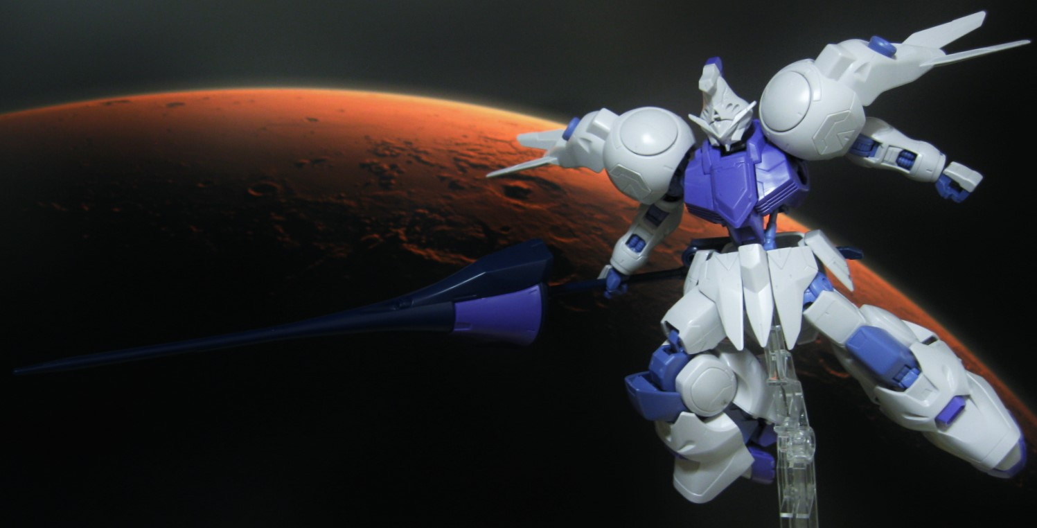 HG 1/144 ガンダムキマリス GundamKimaris デジラマ ジオラマ レビュー