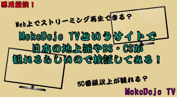 MokoDojo TV検証55-01-745