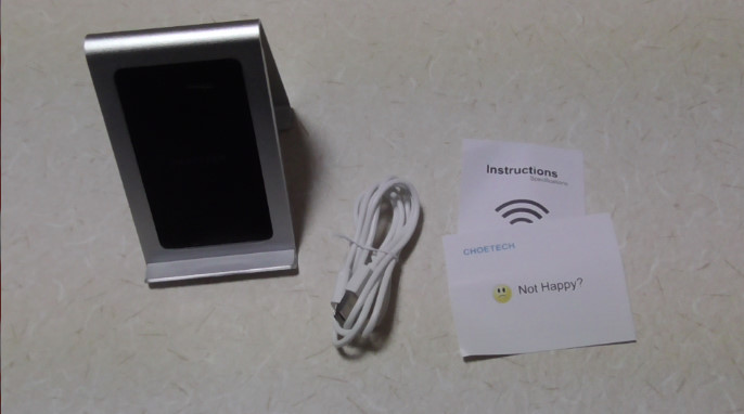 CHOETECHのスタンド式ワイヤレス充電器をレビューT516-W 02-14-13-406