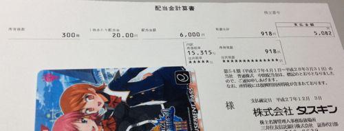 4665 ダスキン 中間配当金