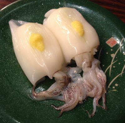 函館市場 やりいかの一本寿司