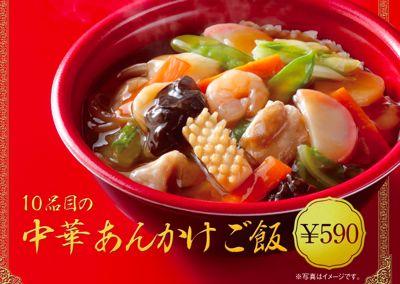 10品目の中華あんかけご飯
