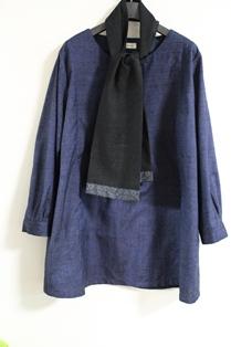 黒紬&大島紬ストール1