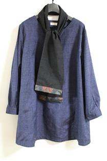 黒紬&大島紬ストール2