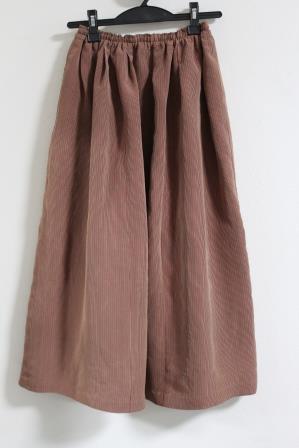 縞紬スカート