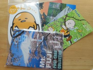 富士山等のポストカードを購入1