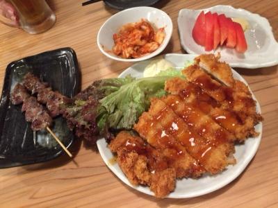 150907笑人六甲道店チキン南蛮、ハート、キムチ、トマト各300円(税込)