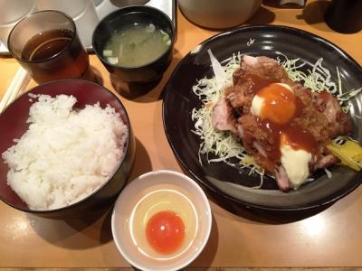 150917一夢庵焼鶏定食1.5倍820円スタミナソース