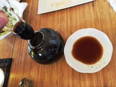 150927江ノ島がっぱ醤油さしがユニーク