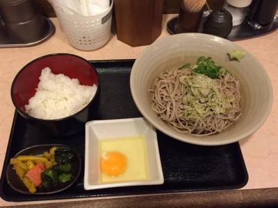 151013汐屋新大阪店日替わり麺セット380円冷やしにしたら昆布