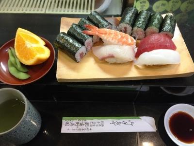 151013那古野寿司ツーコインランチ600円