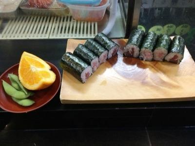 151013那古野寿司ツーコインランチ600円まずは鉄花巻