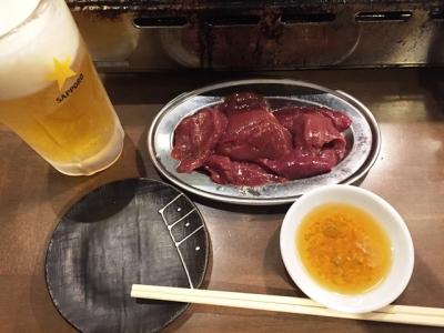 151019黒潮名駅柳橋店鮮レバー380円