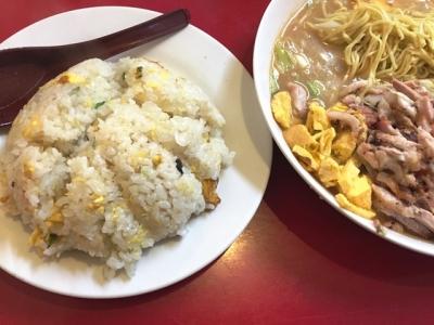151204宝楽冷麺定食800円焼飯