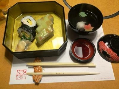 151210かに道楽梅田店お昼のかに御膳の都(みやこ)2484円かに寿司