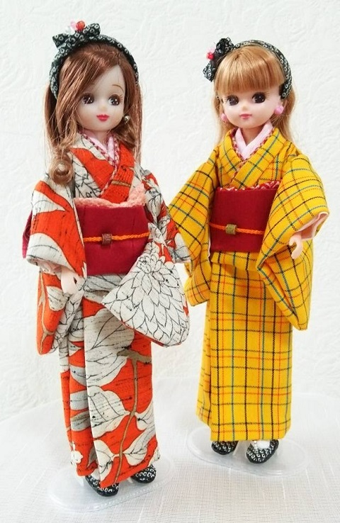 平成28年2月の和服りかちゃんみかちゃん