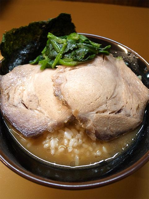 150825麺匠かづ家-ラーメン中・家丼