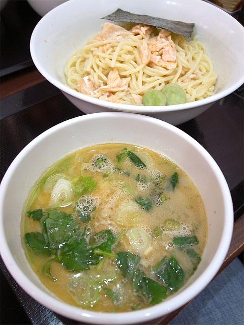 150607似星-鮭と鶏の白湯つけ麺
