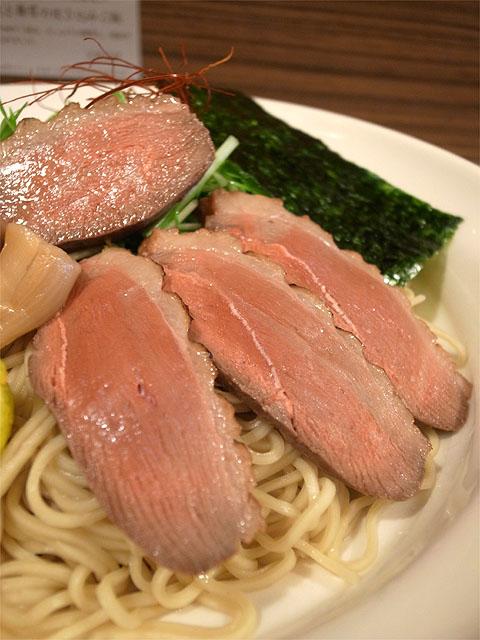 151115麺屋さくら-上鴨南蛮つけそば・鴨肉