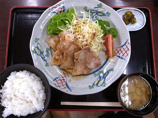 150614阿武隈高原SA-エゴマ豚の生姜焼き定食