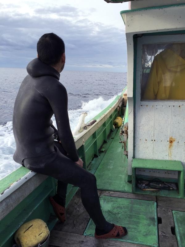 松江さんの船で