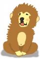 お猿のラヴィんちゃ< 背景に色を付ける用>