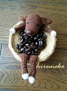 コーヒー風呂犬
