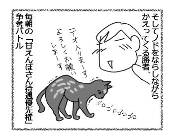 羊の国のラブラドール絵日記猫!!「朝のバトル」4