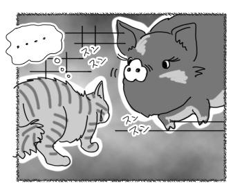 羊の国のラブラドール絵日記シニア!!「ファームの猫」3