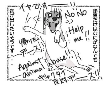 羊の国のラブラドール絵日記シニア!!「獣医さん肝試し」4