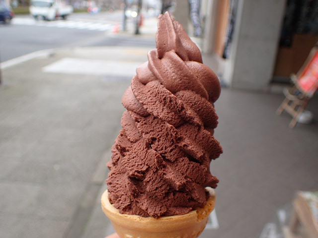 チョコレートソフトアイス