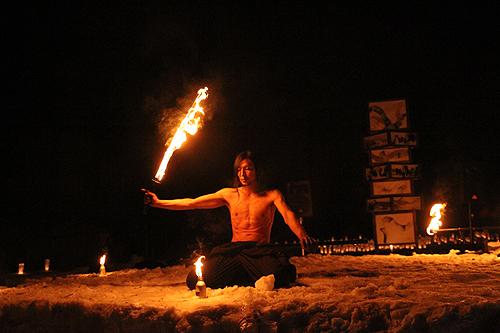 湯野上温泉火祭り プレイバック0045