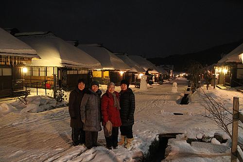 大内宿雪灯篭ツアー032