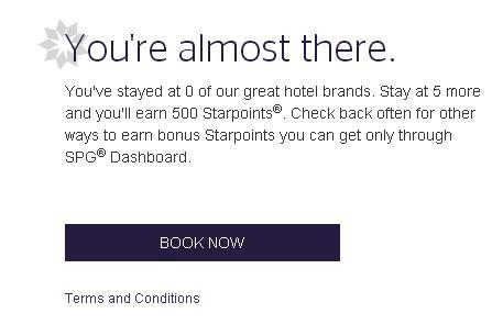 スターウッド 5ブランドのホテルに宿泊後500スターポイントがもらえます。