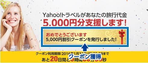 Yahooプレミアム会員を対象に5000円引きクーポン配布中1