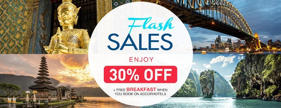 ル・クラブ・アコーホテルズのアジア太平洋朝食付きフラッシュセール30%OFF