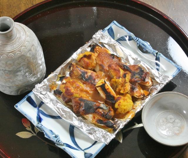 IMG_1382 肝と卵巣の味噌焼き(640x538)